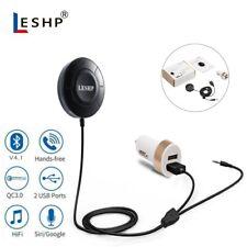 Bluetooth Car Receiver Kit Music Adapter Handsfree Car Speaker w/ 2.4A USB Ports