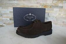 Prada Gr 44,5 10,5 Halbschuhe Schnürschuhe Schuhe shoes 2EE180 braun NEU UVP590€