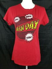 Green Day Women's Red Uno! Dos! Tre! T-Shirt Size XXL Vintage Collectible RARE