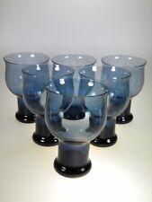 Lenox Crystal CLARION BLUE Wine Glasses Set of 6