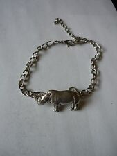 Rhino codea11 Made From Fine English Pewter on a Anklet / Bracelet