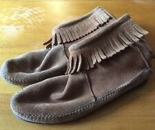 Minnetonka 6 Fringed Ankle Boots, Festival/ Boho