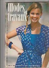 Modes et travaux N°954 mai 1980  page poupées tricot  crochet couture
