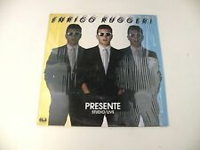 ENRICO RUGGERI - PRESENTE STUDIO/LIVE - LP 1984 CGD RECORDS - OIS - EX/EX++