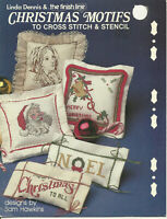 Christmas Motifs Counted Cross Stitch & Stencil Pattern Leaflet The Finish Line