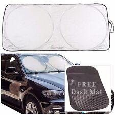 """Sumex Car Front Windscreen 27.5x59"""" Foldable Reflective Sun Shade -FREE DASH MAT"""