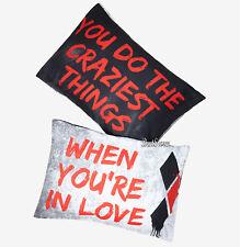 DC Comics Harley Quinn Joker Crazy LOVE Super Soft 2 Pack Pillowcase Set NEW