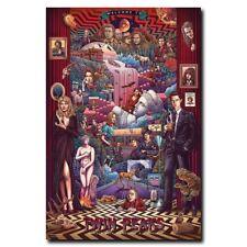 Twin Peaks 12x18inch TV Shows Silk Poster Hot Room Door Wall Decals Art Print