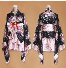 Women Anime Cosplay Costume Dress Kimono Japanese Lolita Maid Uniform Outfit