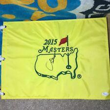 Jordan Spieth Signed 2015 Masters Golf Pin Flag JSA LOA