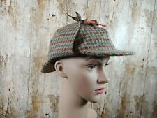 Vintage Autohat Sherlock 100% Wool Hat Made In Scotland Size 60 7 3/8