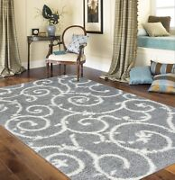 RUGSHOP COZY MODERN SCROLL DESIGN SHAG AREA RUG