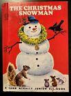 THE CHRISTMAS SNOWMAN Rand McNally Junior Elf Book 1977 ~ MINT
