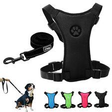 Mesh-Stoff Hundegeschirr Sicherheitsgeschirr Softgeschirr mit Leine 4 Farben S-L