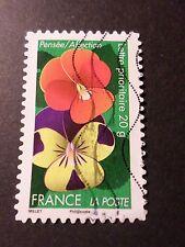 FRANCE 2012, timbre AUTOADHESIF 670 FLEURS PENSEE oblitéré FLORA FLOWERS