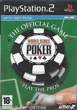 WORLD SERIES OF POKER for Playstation 2 PS2 - with box & manual - PAL