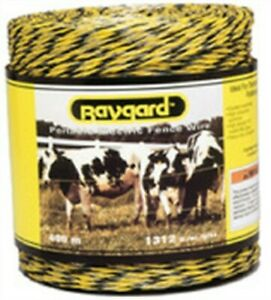 Baygard 00122 Electric Fence Yellow & Black Pollywire 1312 ft.