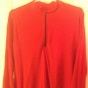 Adidas Mens XL 1/4 zip Pullover Red