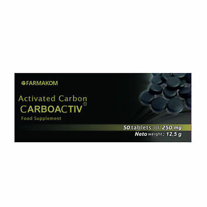 Activated charcoal Activated carbon Carboaktiv 250 mg 50 tablets