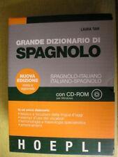 GRANDE DIZIONARIO DI SPAGNOLO Laura Tam Hoepli con CD 2005 vocabolario