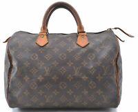 Authentic Louis Vuitton Monogram Speedy 30 Hand Bag M41526 LV B8063