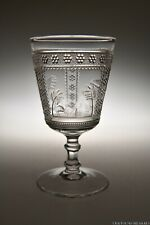 """c. 1882 No. 50 SPHYNX AKA EGYPTIAN by Adams & Co COLORLESS 5 7/8"""" H Goblet"""