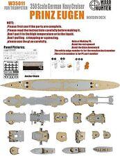 Hunter 1/350 W35011 Wood deck German Prinz Eugen for Trumpeter