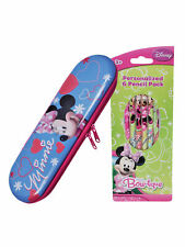 Minnie Mouse Pencil Case & 6 Pencils School 2 Piece  Set