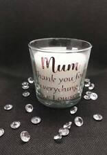 Personalised Mum Vanilla Scented Candle Rose Gold Gift