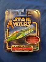 STAR WARS ATTACK OF THE CLONES 'ZAM WESSEL SPEEDER FORCE LINK' HASBRO 2002 MINT