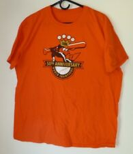 Men's T-Shirt,Baltimore Orioles,Size XL,Orange,Short Sleeve,Graphic Tee,Women
