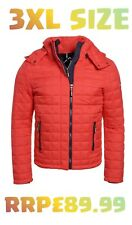 NEW RRP£89.99 3XL MENS SUPERDRY BOX QUILT FUJI HOODED WINTER JACKET SPORT RED 28