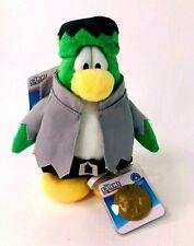 "Disney Club Penguin Online Exclusive 8"" Plush Toy with Coin Frankenpenguin Jakks"