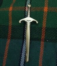 "Scottish Kilt Pin Brass Brushed Antique Finish 4"" Celtic Sword Pins Brooch Metal"