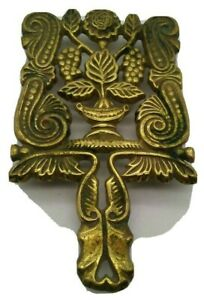 Vintage VCM Brass Beautiful Heavy Duty Trivet Grape Cluster Floral Footed Ornate