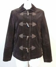 GAP Womens Brown Corduroy Zip Toggle Front Sherpa Lined Jacket Size Medium