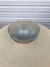 10 Pc Glass Bowl Set; Nesting Bowls, Mixing Bowls