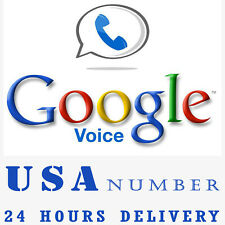 Google Voice Number Make & Receive Calls SMS Lifetime Google USA Phone Number