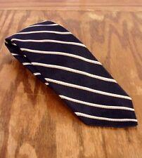 """vtg Hathaway for Boyd's Men's 100% Silk Striped Tie Necktie Black Gold 58"""" 3"""""""
