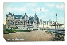 Terrace and Chateau Quebec Canada Vintage Postcard A01