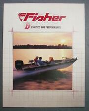 Orig 1993 Crestliner Fishing Pontoon Jon Boats Dealer Sales Brochure 18 Models