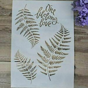 DIY Decorative Tropical Leaf Stencil Template for Painting on Walls (A4 Size)