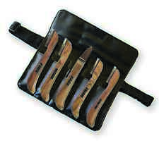 Genuine AARONCO Pro Stripping Knives 5 pc KNIFE SET w/Case - Right Hand
