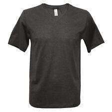 Short Sleeve No Pattern V Neck Regular T-Shirts for Men