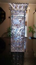Antique Square Cut Glass Flower Vase Early 1800s