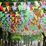 80M Bunting Banner Colorful Triangle Flags Pennant Festival Wedding Party