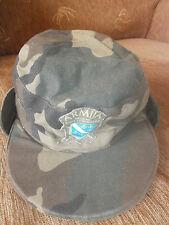 BOSNIA ARMY -  ORIGINAL WAR TIME SOLDIE'S CAMO CAP WITH MARK -  rare