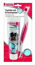Beaphar Soft Grip Toothbrush & Toothpaste Kit 100g Cat Dog Fresh Breath
