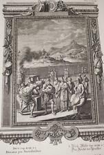 GRAVURE SUR CUIVRE BIBLE PHYSICA SACRA SCHEUCHZER 1735 PINTZ PRINT