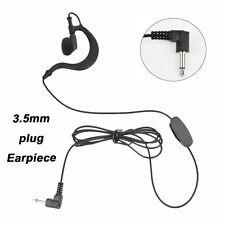 3.5mm G Shape Surveillance Headset Earpiece for Remote Mic Mp3 Players ham radio